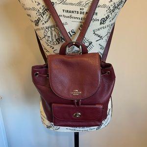 Coach Billie mini pebbled leather backpack NWOT
